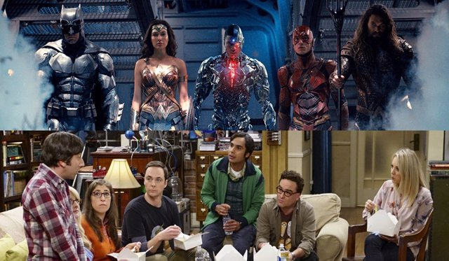 'La Liga De La Justicia' Y 'The Big Bang Theory'