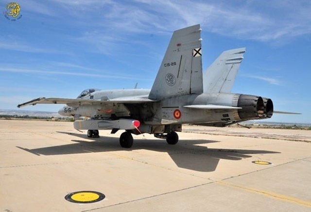 Un caça F-18 espanyol