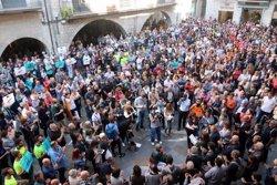 Girona surt al carrer en protesta per l'empresonament de Cuixart i Sánchez i aixeca el clam de