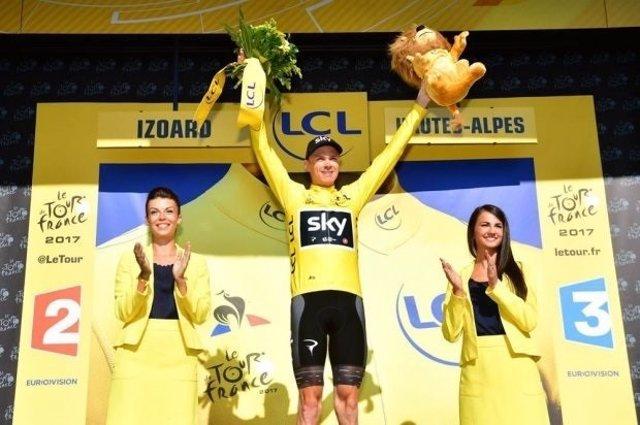 El ciclista británico Chris Froome