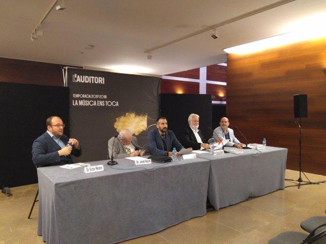 Presentació de la nova temporada de música de cambra de l'Auditori