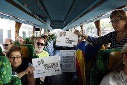 Un centenar de tarragonins es desplacen en bus a Barcelona per participar a la concentració de la Diagonal (ACN)