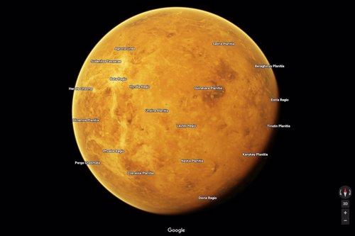 Venus en el mapa de Google Maps
