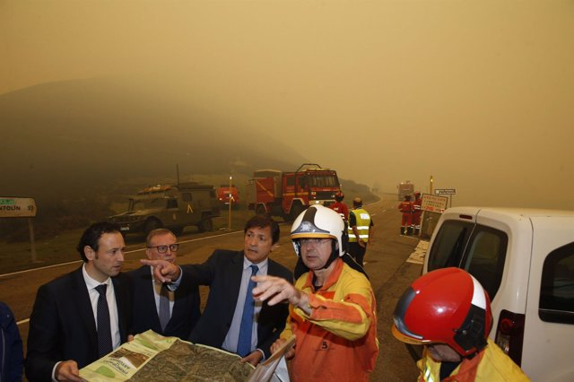 Javier Fernández en los incendios forestales