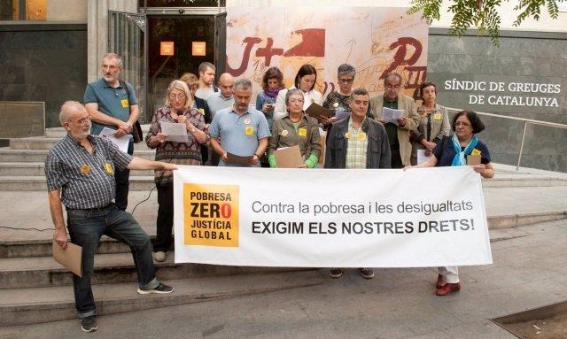 Acte de la plataforma Pobresa Zero - Justícia Global aquest dimarts