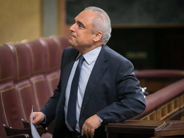 El diputado socialista Rafael Simancas, en el Pleno del Congreso