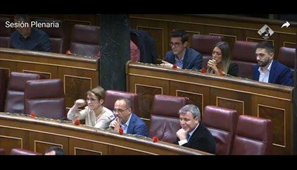 Corte de Mangas de una diputada del PDeCAT a Toni Cantó en el Congreso