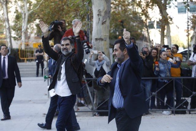 Jordi Sánchez i Jordi Cuixart acudeixen a declarar l'Audiència Nacional