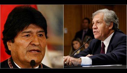 """Morales indica que el secretario de la OEA padece de una """"enfermiza obsesión golpista"""""""
