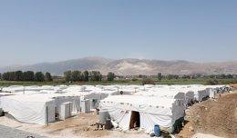 Campamento de refugiados sirios en Líbano