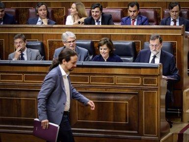 """Iglesias exigeix al PP que """"torni a la legalitat"""" i """"demani perdó"""" per """"robar"""" i Rajoy l'acusa de ser la """"inquisició"""" (CONGRESO)"""