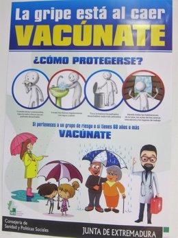 La campaña de vacunación contra la gripe comienza en Estremadura este lunes