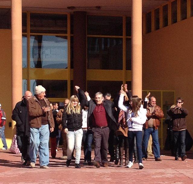 Salida De Miguel Montes Neiro De La Cárcel De Albolote