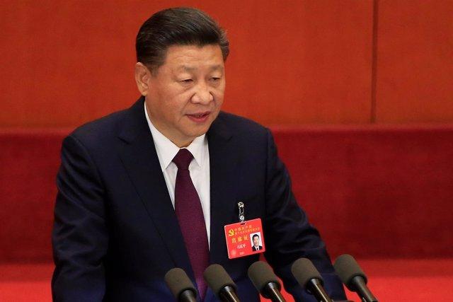 El presidente de China, Xi Jinping, durante el Congreso Nacional del PCCh