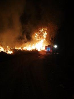Incendio en la Serra de San Mamede (Ourense)