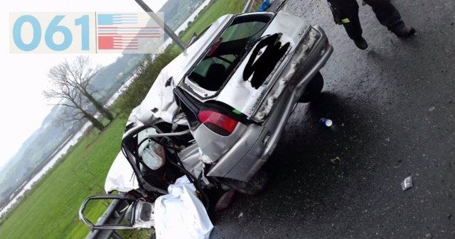 Imagen del estado en que ha quedado el vehículo