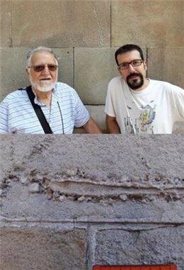 Els investigadors Alejandro Belaústegui (UC3M) i Zain A. Belaústegui (UB-IRBio)