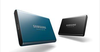 Samsung presenta la unidad de almacenamiento SSD T5, que alcanza transferencias de hasta 540 megabytes por segundo