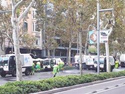 Reobren al trànsit els carrils centrals de la Diagonal en tots dos sentits després de retirar la cera (EUROPA PRESS)