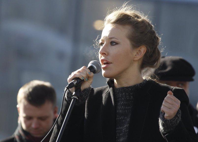 La presentadora de televisión Ksenia Sobchak presenta su candidatura a las presidenciales de 2018 en Rusia