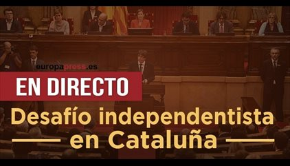 Independencia Cataluña, última hora |  Forcadell convoca el lunes la reunión que prevé fijar el pleno de independencia