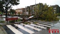 El telèfon d'emergències rep 616 avisos per fortes pluges a Barcelona i Tarragona (BOMBEROS DE LA GENERALITAT)