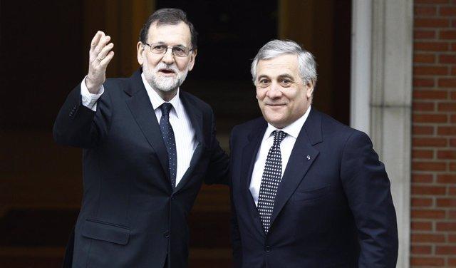 Rajoy recibe en La Moncloa al presidente del Parlamento Europeo