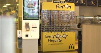 Taquillas para móviles, la iniciativa de McDonald's para pasar un tiempo en familia de calidad