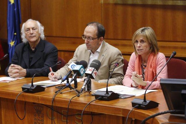 11,00 H.- A Directora De Turismo De Galicia, Nava Castro, E O Secretario Xeral D