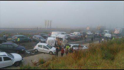 Un fallecido y 15 heridos en un accidente múltiple con 45 vehículos implicados en Cáceres