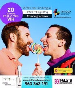 Campaña de Lambda en el día de la prueba del VIH