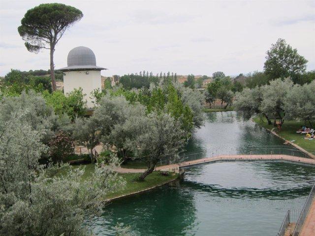 El lago termal de Alhama de Aragón