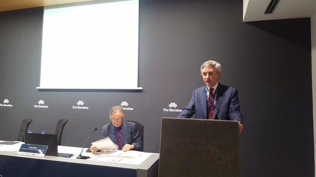 Josep Oliver (UAB) y Eduard Mendiluce (Anticipa)