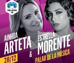 Ainhoa Arteta i Estrella Morente uneixen veus el 28 de desembre al Palau de la Música (FESTIVAL DEL MIL·LENI)