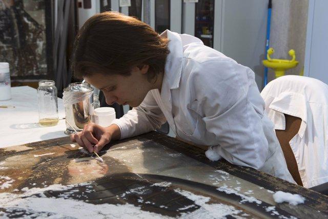 Restauració de pintures d'amazones del segle XVI