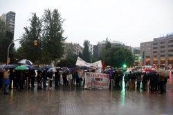 """Mig centenar de persones es concentren a Tarragona contra el 155 i per la llibertat dels """"presos polítics"""" (ACN)"""