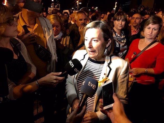 La presidenta del Parlament, Carme Forcadell