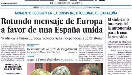 Las portadas de los periódicos de hoy, viernes 20 de octubre de 2017