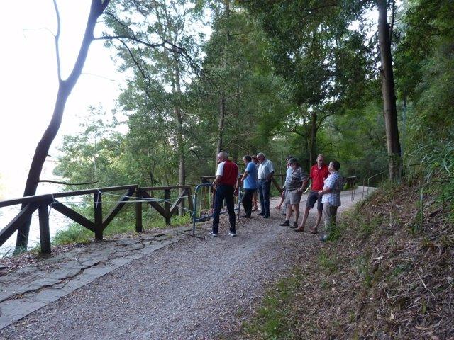 Carril bici y senda peatonal en cuenca del Besaya