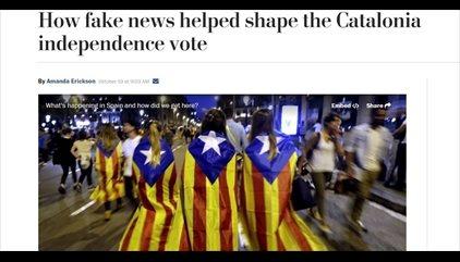 """El 'Washington Post' señala las """"noticias falsas"""" del referéndum, entre otras la mujer de los dedos rotos"""