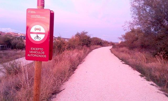 Señalización en la vía verde de Soria