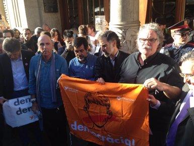 Jordi Sànchez (ANC) al·lega que van convocar una concentració pacífica sense impedir escorcolls (Europa Press)