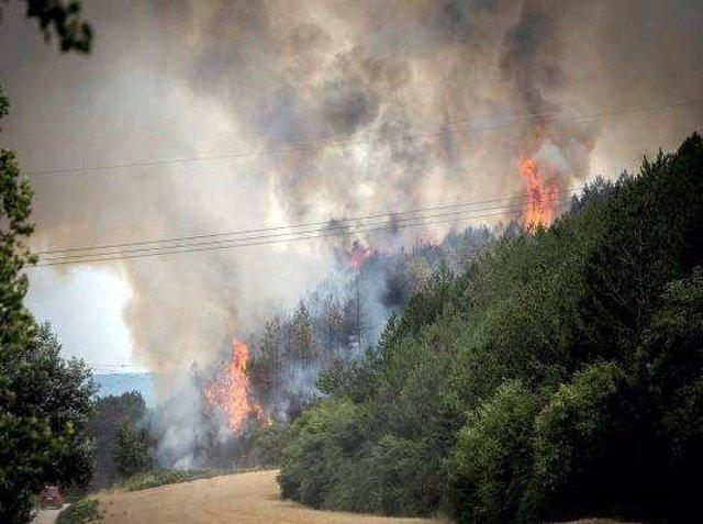 Imagen del incendio en Arazuri, del 4 de julio.