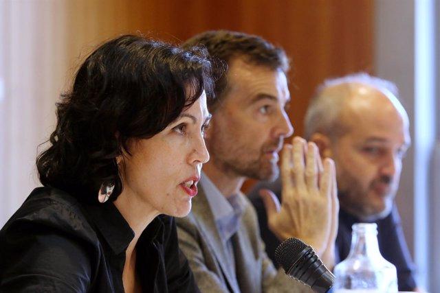 Eva García Sempere, Antonio Maíllo y Jesús de Manuel