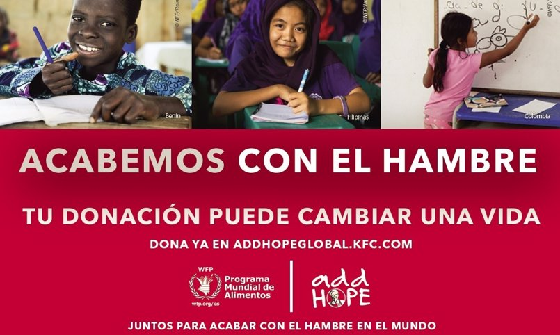 KFC Iberia y WFP se unen para distribuir más de 375.000 comidas escolares por el mundo