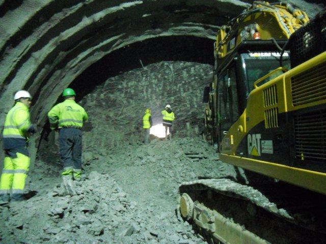 Cale de un tunel en la Y vasca