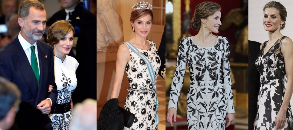 LA REINA LETIZIA DE BLACK AND WHITE