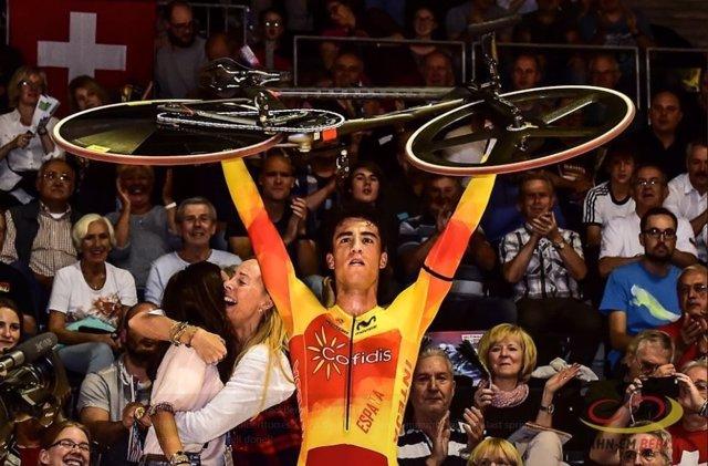 Albert Torres, campeón de Europa de omnium en ciclismo en pista