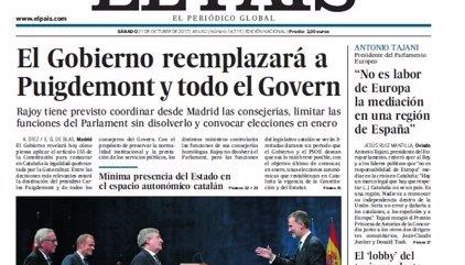 Las portadas de los periódicos de hoy, sábado 21 de octubre de 2017