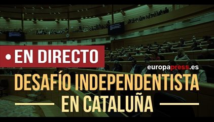 Artículo 155 Cataluña | Puigdemont y sus consejeros encabezan la manisfestación en Barcelona